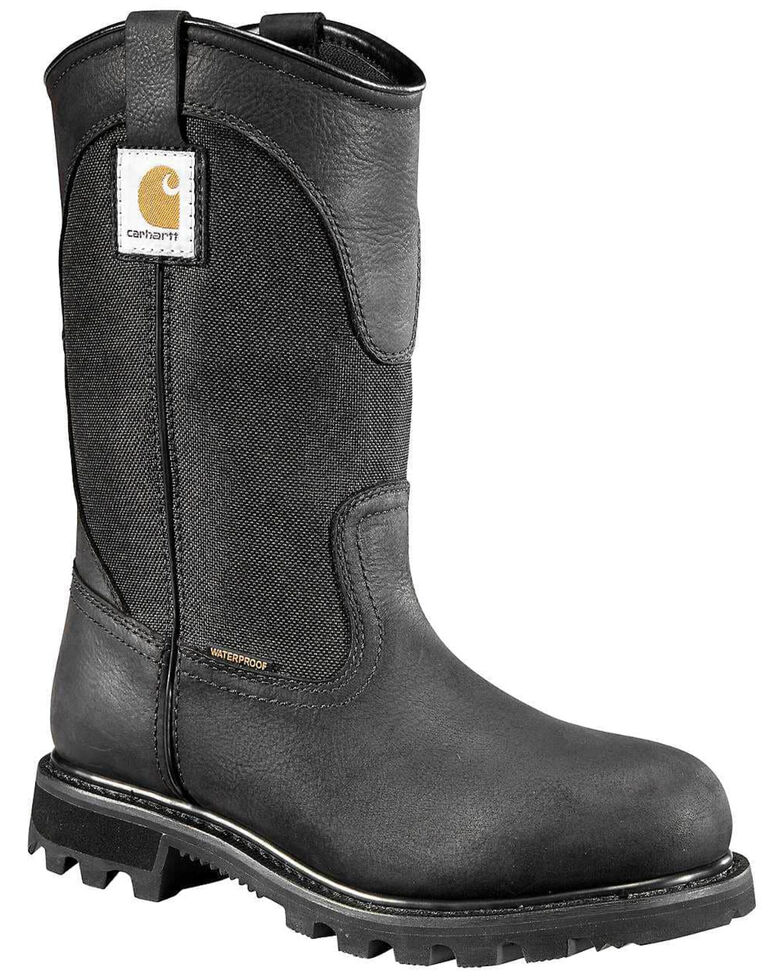 Carhartt Women's Waterproof Western Work Boots - Soft Toe, Jet Black, hi-res