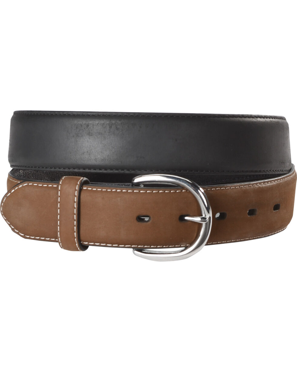 Cody James Men Two Toned Leather Belt, Multi, hi-res