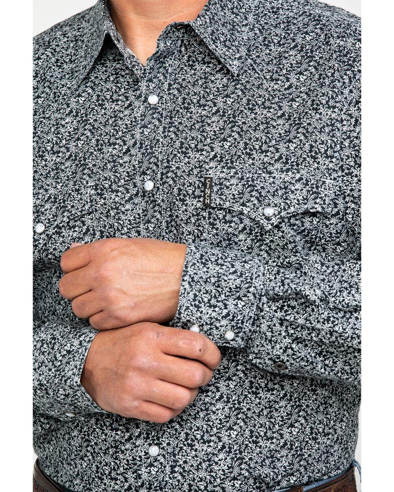 Cinch Men's Navy Modern Paisley Print Long Sleeve Western Shirt , Navy, hi-res