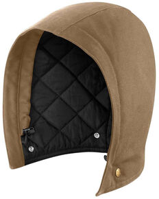 Carhartt Men's Solid Quilt Lined Sandstone Insulated Hood , Brown, hi-res