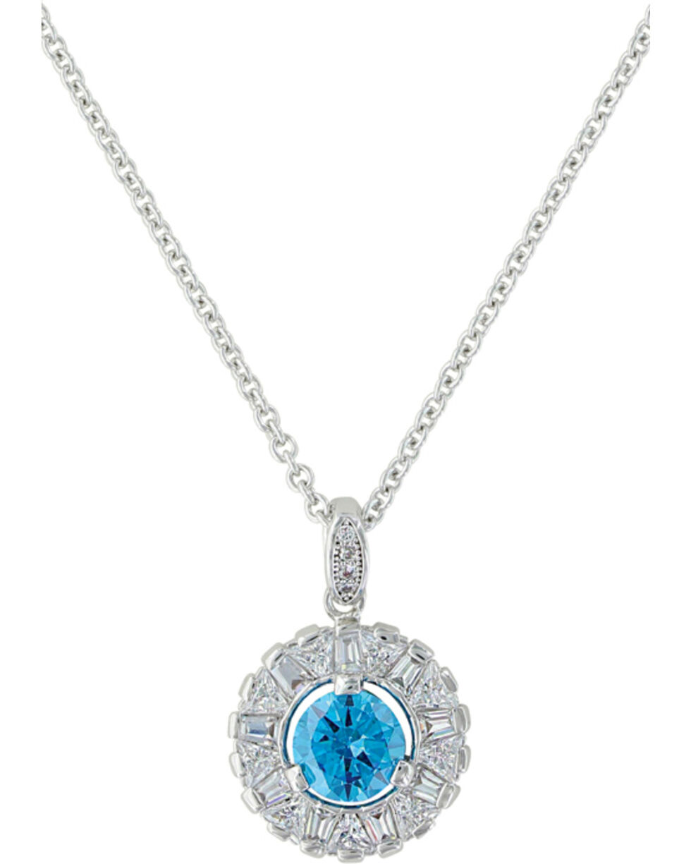Montana Silversmiths Women's Hot Summer Days Halo Necklace , Silver, hi-res