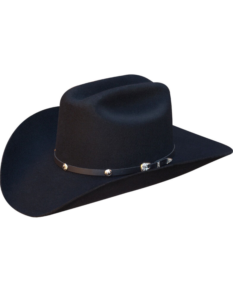 Silverado Men's Ike Wool Felt Cowboy Hat  , Black, hi-res