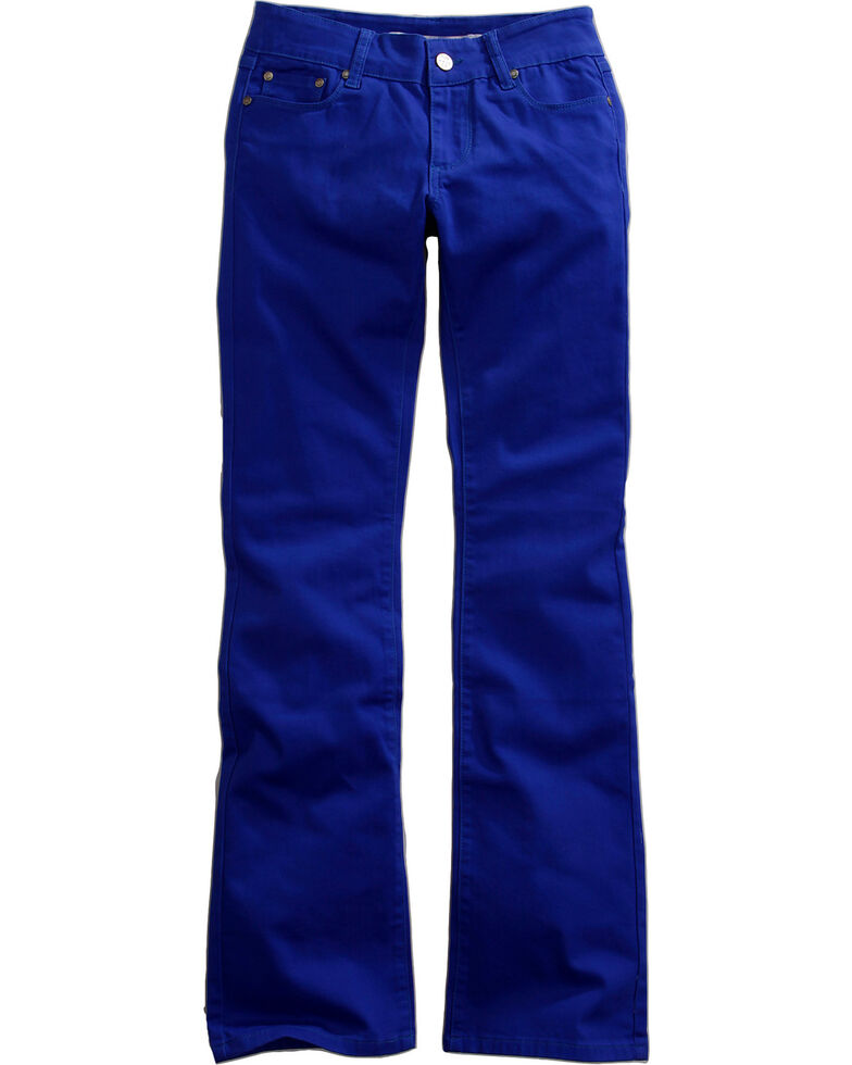 9b47a96b369 Zoomed Image Tin Haul Women's Dolly Celebrity Colored Denim Bootcut Jeans,  Royal, hi-res