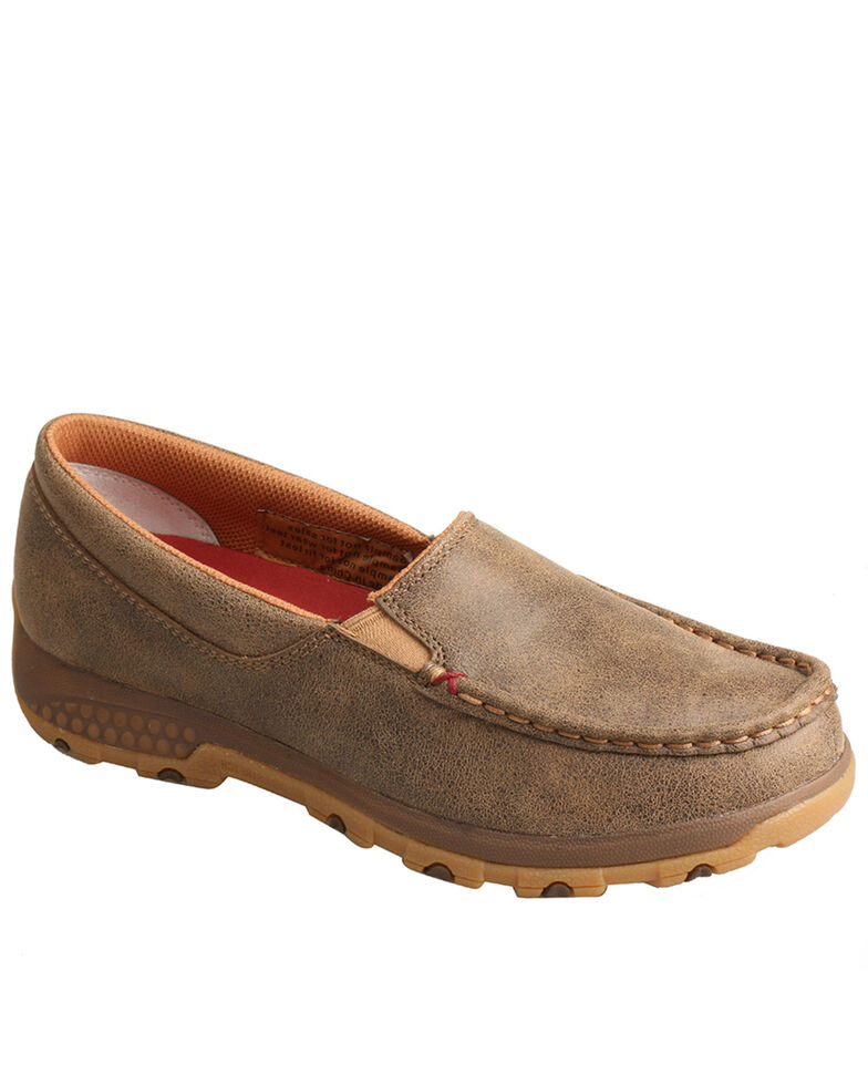 Twisted X Women's Slip On Driving Mocs, Brown, hi-res