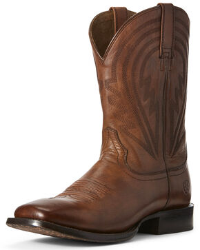 Ariat Men's Circuit Herd Boss Western Boots - Wide Square Toe, Cognac, hi-res