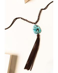 Shyanne Women's Willow Moon Stone Tassel Necklace, Rust Copper, hi-res