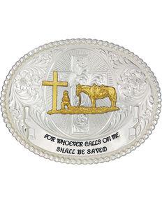 Montana Silversmiths Faith and Wisdom Western Belt Buckle, Silver, hi-res