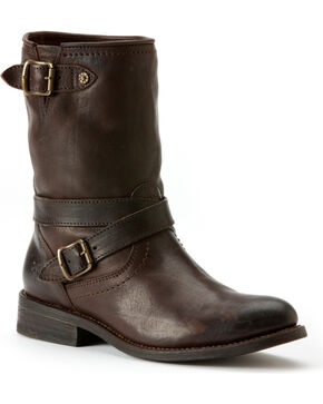 Frye Women's Jayden Cross Engineer Boots, Dark Brown, hi-res