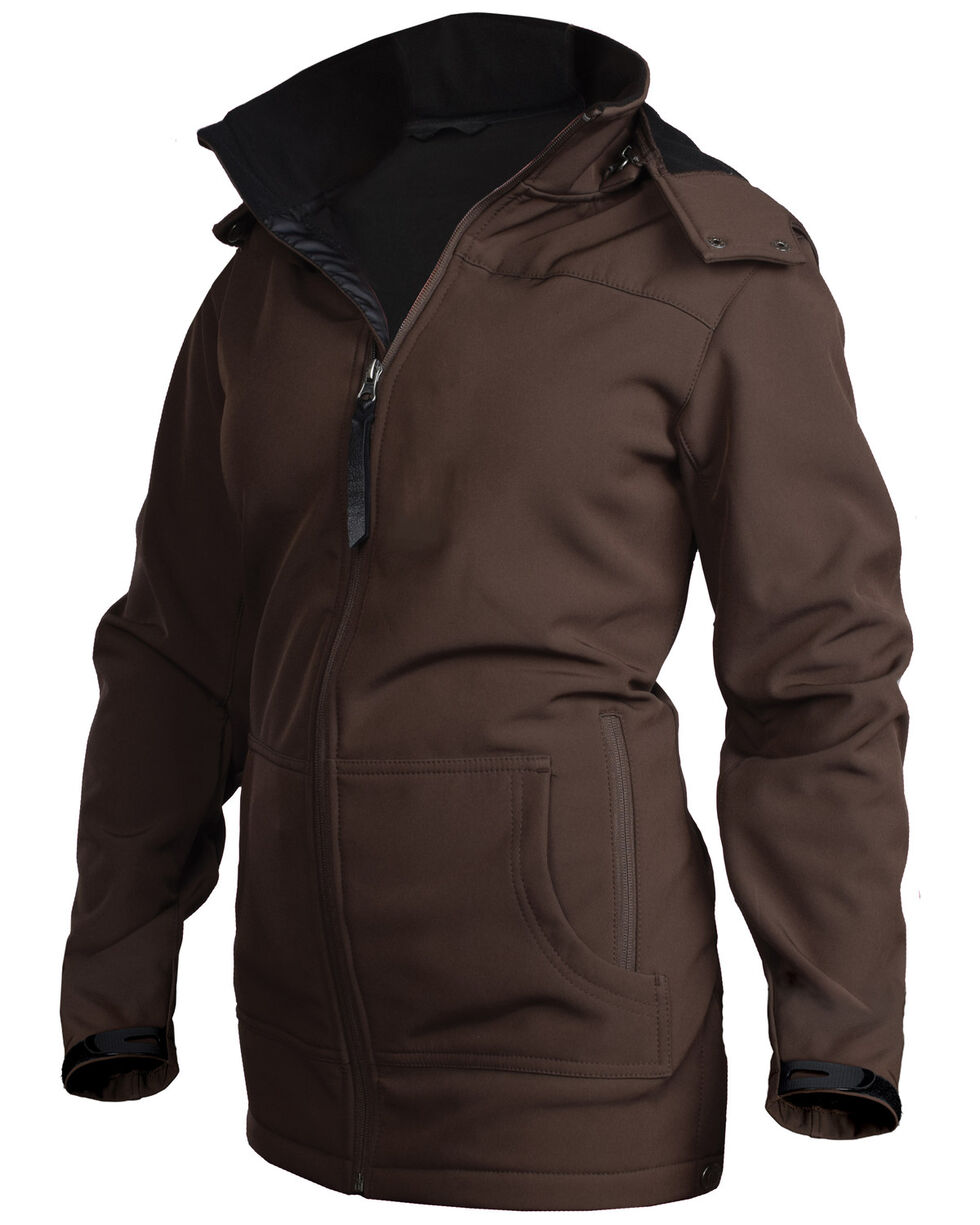 STS Ranchwear Women's Brown Barrier Softshell Hooded Jacket, Brown, hi-res