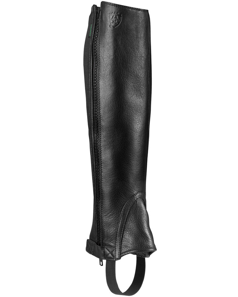 Ariat Unisex Breeze Half Chaps, Black, hi-res