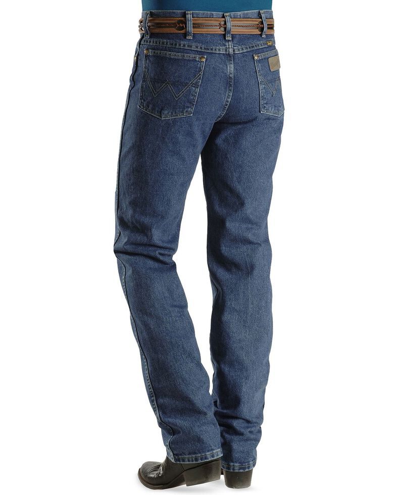 George Strait Wrangler Men's Slim Fit Western Jeans, Denim, hi-res