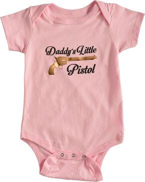 Shyanne Infant Girls' Daddy's Little Pistol Onesie, Pink, hi-res