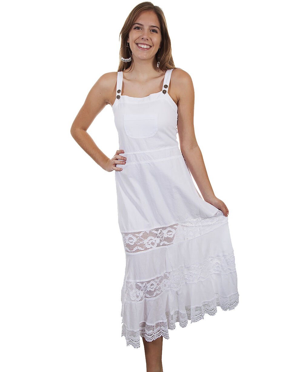 Cantina by Scully Women's White Front Pocket Maxi Dress, , hi-res