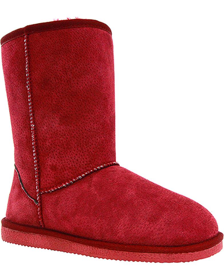 "Lamo Women's 9"" Classic Suede Boots, Burgundy, hi-res"