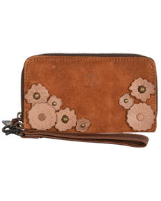 STS Ranchwear Women's Sheridan Flower Wristlet, Brown, hi-res