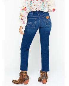 Wrangler Women's Modern High Rise Step Hem Jeans  , Dark Blue, hi-res