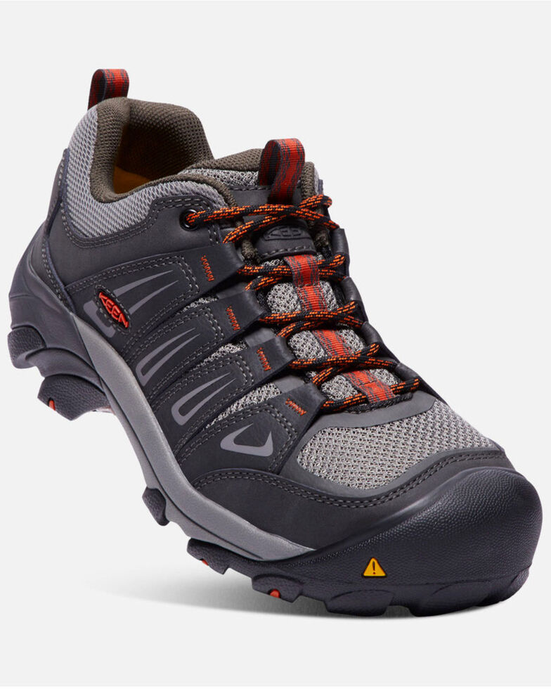 Keen Men's Boulder Work Shoes - Steel Toe, Grey, hi-res