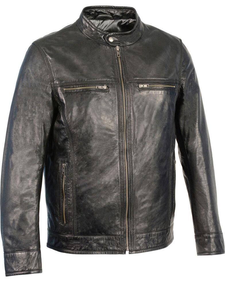 Milwaukee Leather Men's Zip Front Classic Moto Leather Jacket - 4X, , hi-res