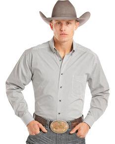 Tuf Cooper Men's White Printed Long Sleeve Shirt , White, hi-res