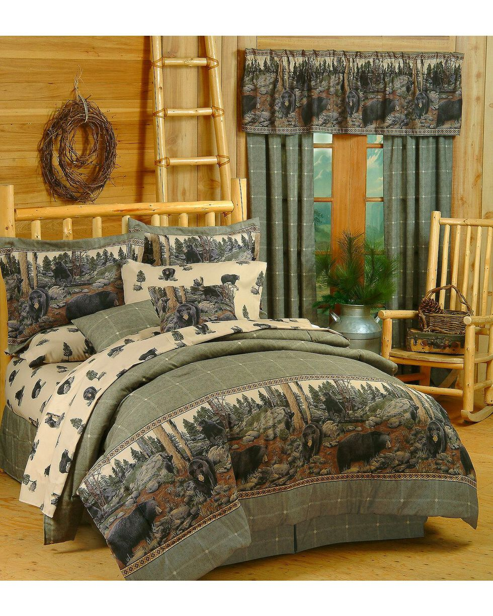 Blue Ridge Trading Bears King Comforter Set, Black, hi-res