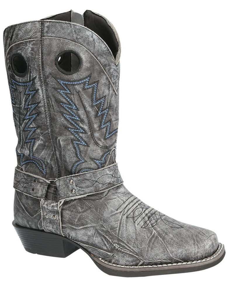 Smoky Mountain Women's Redwood Western Boots - Square Toe, Black, hi-res