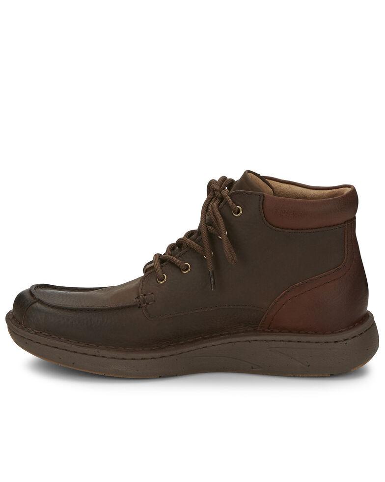 Justin Men's Hitcher Dark Brown Lace-Up Boots - Moc Toe, Dark Brown, hi-res