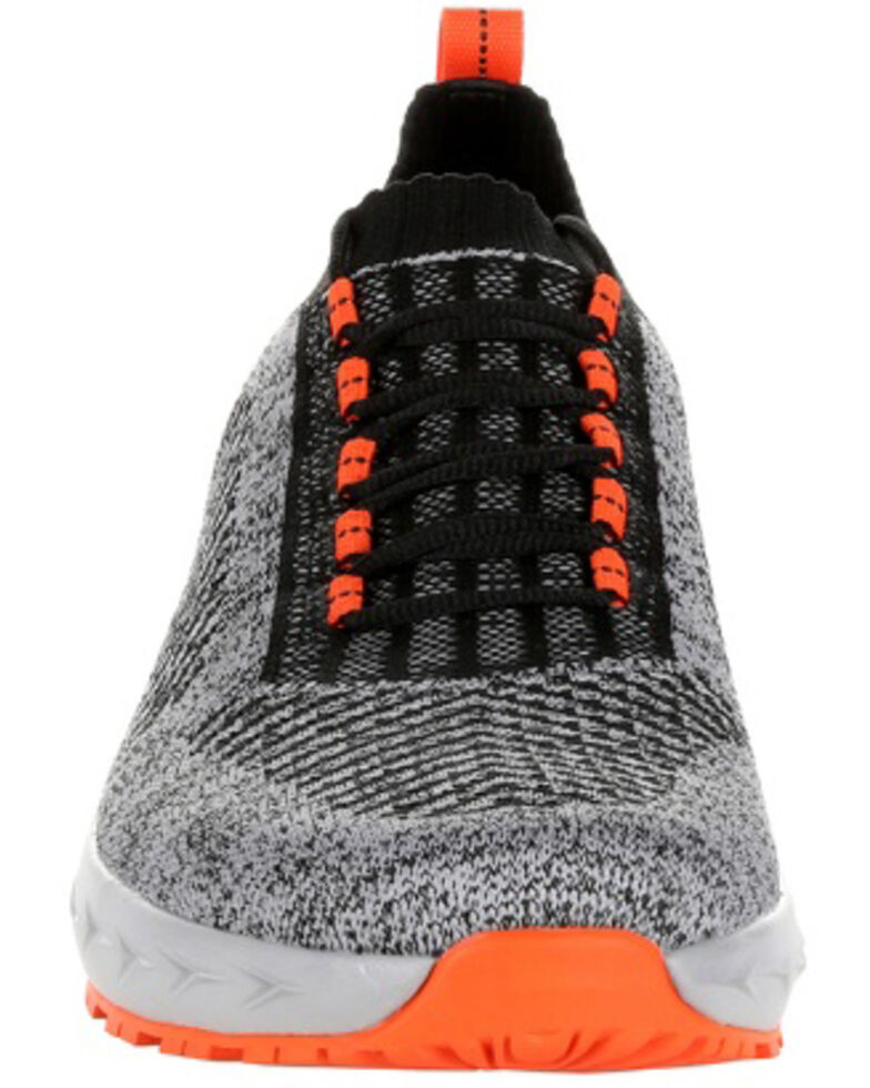 Rocky Men's WorkKnit LX Athletic Work Shoes - Soft Toe, Black, hi-res