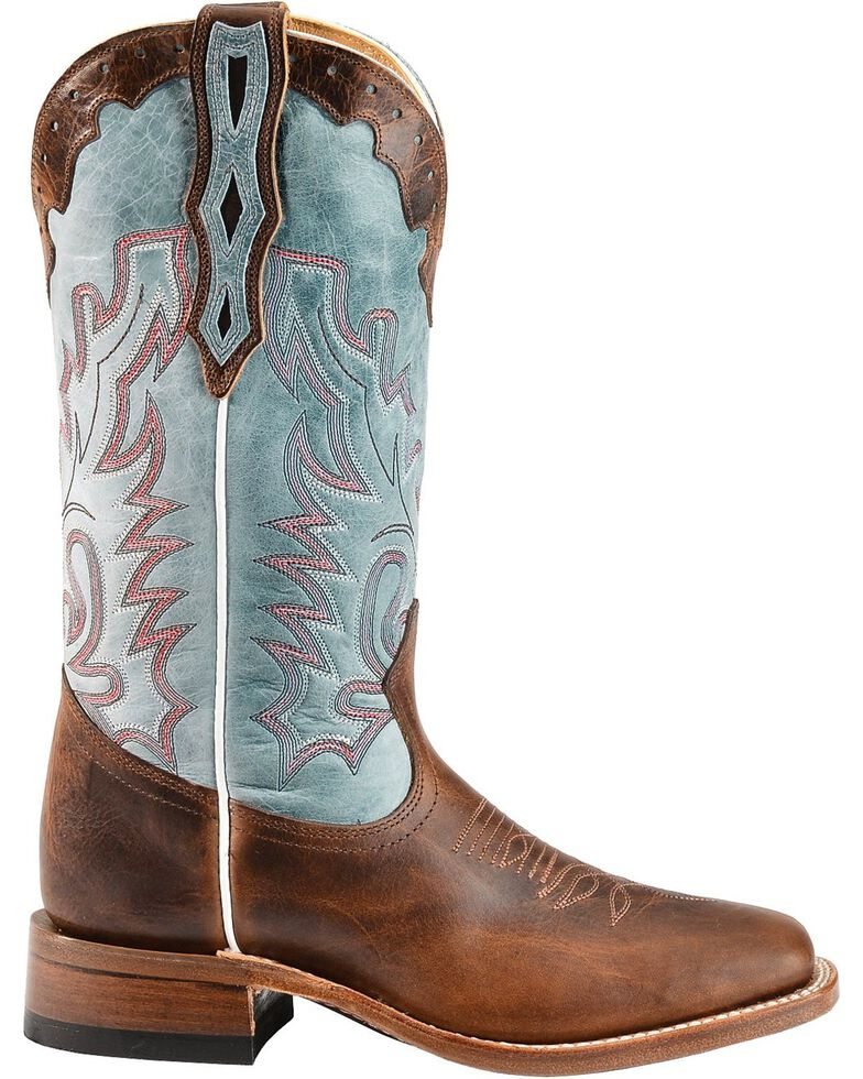 Boulet Women's Damiana Cowgirl Boots - Square Toe, Brown, hi-res