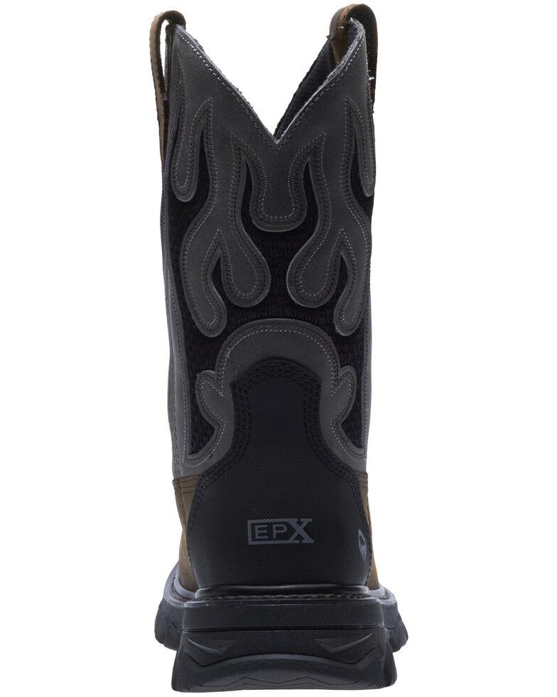 Wolverine Men's Grey Ranch King Western Work Boots - Soft Toe, Grey, hi-res