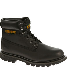 "Caterpillar Colorado 6"" Lace-Up Work Boots - Round Toe, Black, hi-res"