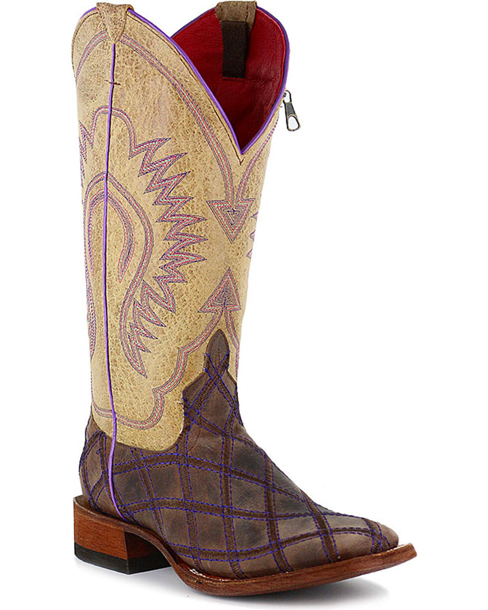 Macie Bean Women's Call Me Maybe Western Boots, Brown, hi-res