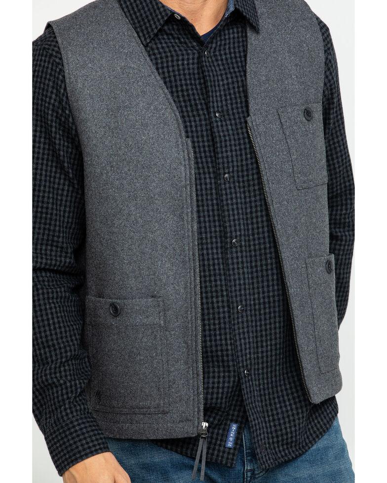 Moonshine Spirit Men's Drumline Wool Blend Dress Vest , Dark Grey, hi-res