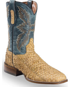 Dan Post Men's Sand Sea Bass Stockman Boots - Square Toe, Sand, hi-res