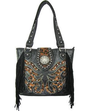 Savana Black Conceal Carry Tote Bag, Black, hi-res