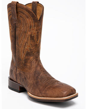 Ariat Men's Plano Bantomweight Performance Cowboy Boots - Square Toe, Brown, hi-res