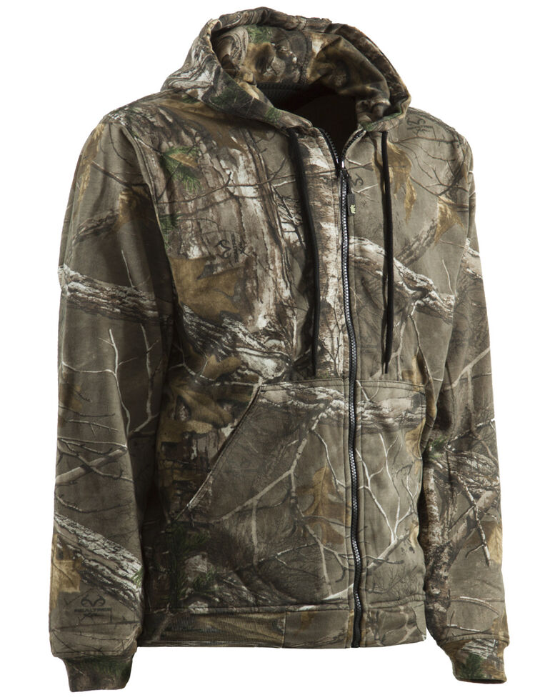 Berne Men's Camouflage All Season Hooded Thermal Lined Zip Work Jacket, Camouflage, hi-res