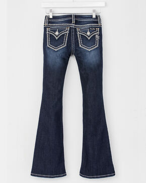 Miss Me Girls' Blue Heavy Stitch Jeans - Boot Cut , Blue, hi-res