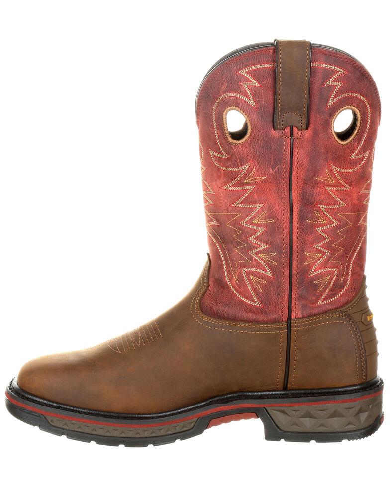 Georgia Boot Men's Carbo-Tec Waterproof Western Work Boots - Alloy Toe, Brown, hi-res