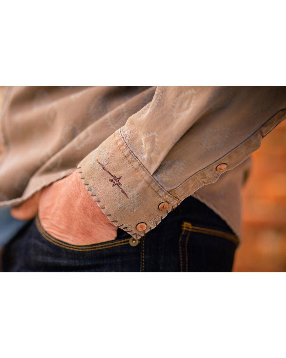 Ryan Michael Men's Diamond Jacquard Western Shirt, Lt Brown, hi-res