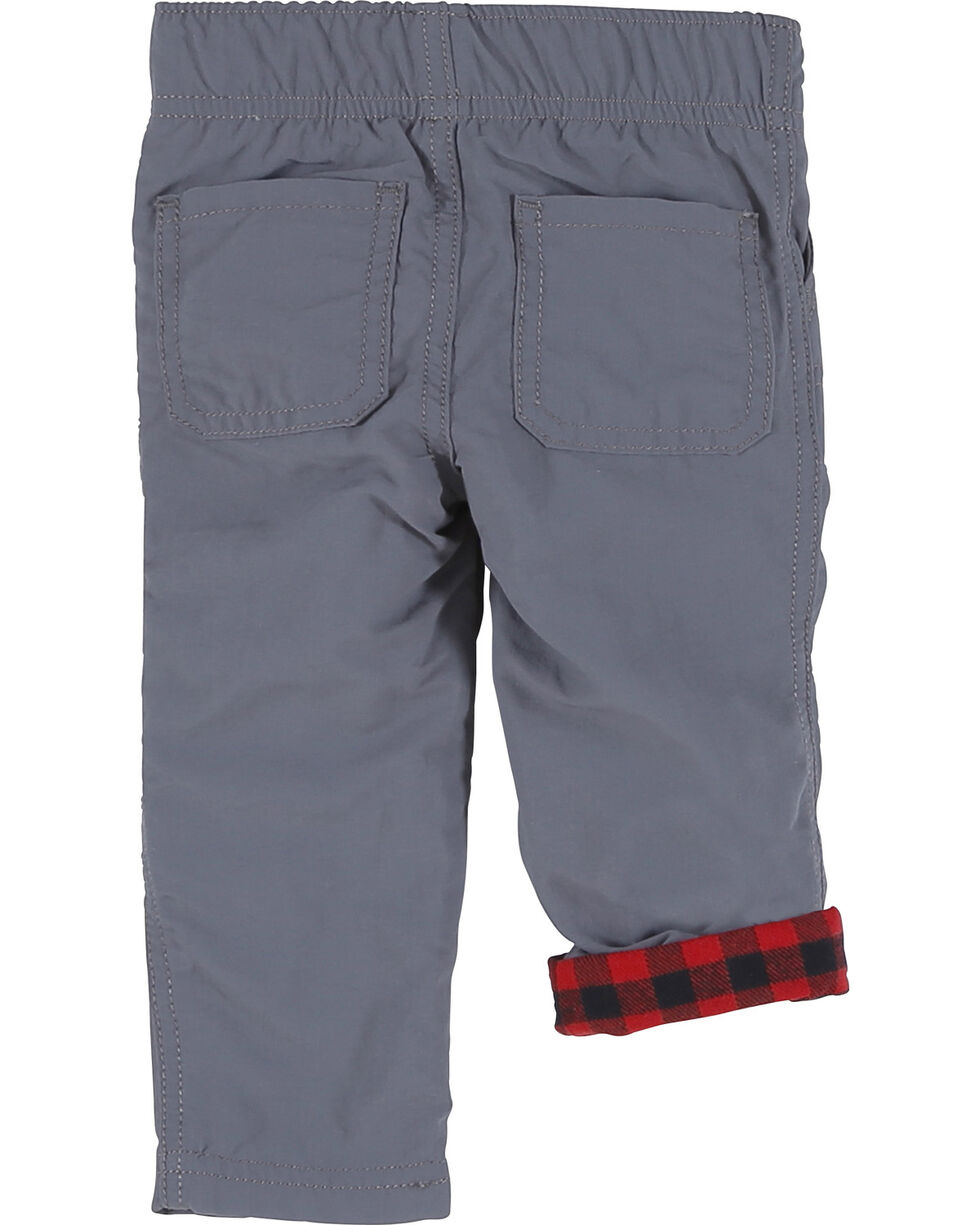 Wrangler Toddler Boys' Elastic Waist Lined Nylon Pant (2T-4T), Grey, hi-res