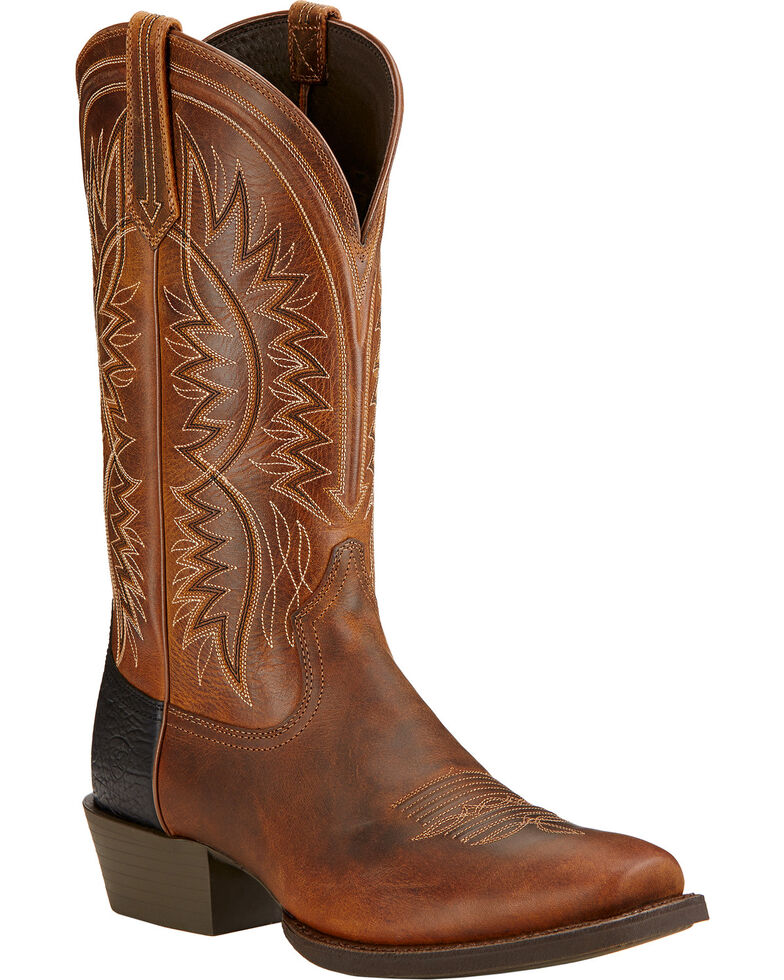 Ariat Men's Troubadour Performance Western Boots, Brown, hi-res
