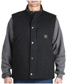 Walls Men's Black Point Blank Work Vest, Black, hi-res