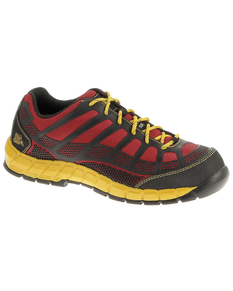 CAT Footwear Men's Streamline Composite Toe Work Shoes, Red, hi-res