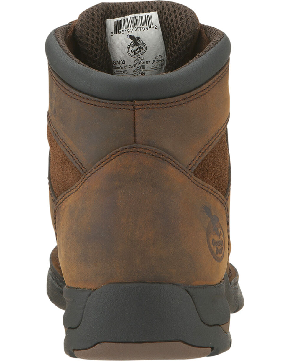 Georgia Men's Waterproof Athens Work Boots, Brown, hi-res