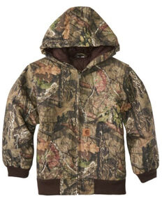 Carharrt Kids Boys' Camo Print Active Flannel Quilt Lined Jacket, Camouflage, hi-res
