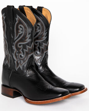 Cody James® Men's Square Toe Stockman Boots, Black, hi-res
