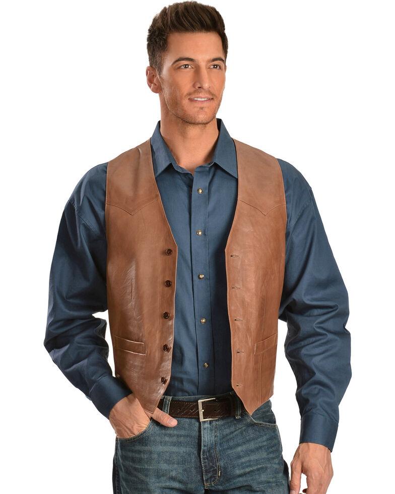 Scully Lamb Leather Vest, Antique Brown, hi-res