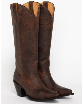 "Shyanne® Women's 15"" Snip Toe Western Fashion Boots, Brown, hi-res"