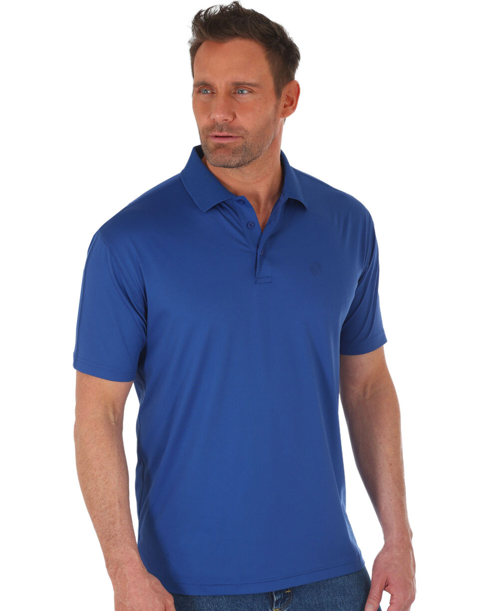 Wrangler George Strait Men's Navy Performance Polo , Navy, hi-res