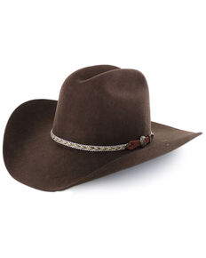 Cody James® Men's Ramrod 3X Low Cattleman Pro Rodeo Felt Hat, Chocolate, hi-res